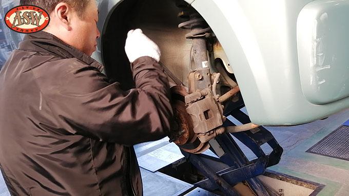 平成14年式 初代 HE21S アルトラパン 持込の ダウンサス に交換