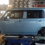 H27年式 HE22S ラパン 4WD サービスキャンペーン作業
